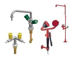 Laboratory fittings TOF and safety showers