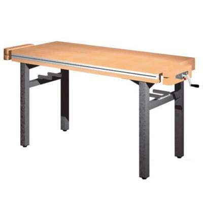 Workbench 1300 × 650 × 850 - fixed height, 2 vice carpenter frontally