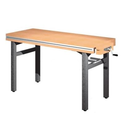 Workbench 1500 × 650 × 850 - fixed height, 1x vice carpenter