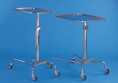 Tool table, height adjustable, with gas spring, small, stainless steel frame