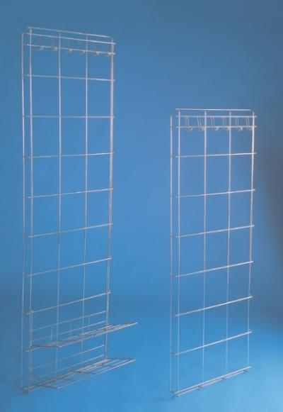 Storing stainless wall for clothes hanging with 2 shelves, 180 × 50 cm