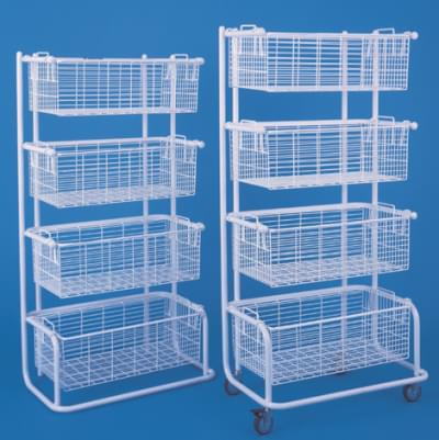 Mobile shelves with 4 baskets, non-antistatic