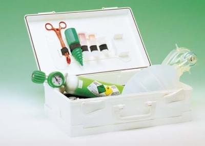 REASET - resuscitating set in ABS container with fixing support