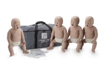 Professional Infant Medium Skin CPR-AED Training Manikin with CPR Monitor 4-Pack