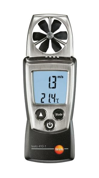 Testo 410-2 - Vane anemometer with built-in NTC air thermometer