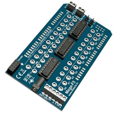 Mega-F5-Shield - adapter for the Arduino MEGA-2560 microcontroller