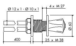 TOF 2000/120 - Laboratory gas valve for DG