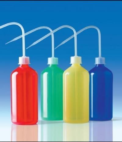 Střička celobarevná, PE-LD, širokohrdlá, červená,250 ml