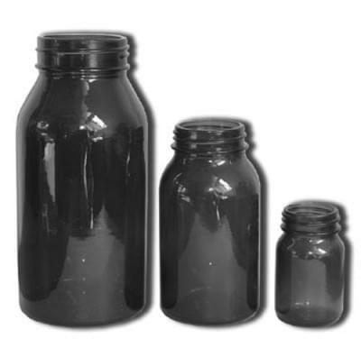 Láhev širokohrdlá se závitem - tabletovka, hnědá, na uzávěr GL 60