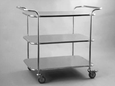 Trolley with top handles and 3 shelves