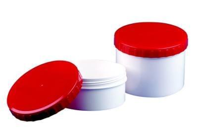 35260 Kelímek Topitec, 300g - bílý s červeným šroubovacím uzávěrem