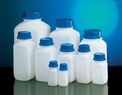Láhev reagenční s UN kódem, HDPE, širokohrdlá, průsvitná, bez uzávěru, 4 000 ml - 4000 ml