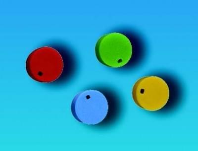 Barevné rozlišovače na uzávěry, PP, modré - Modrá