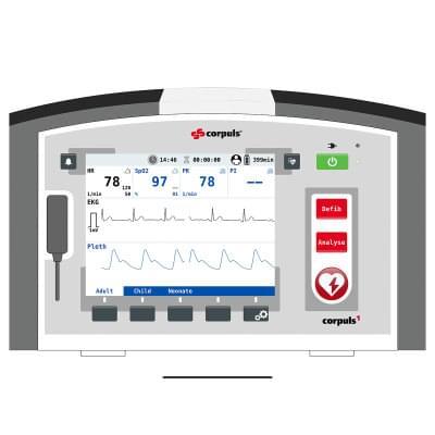 8000966 - corpuls1 Patient Monitor Screen Simulation for REALITi360