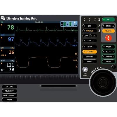 8000971 - LIFEPAK® 15 Patient Monitor Screen Simulation for REALITi360