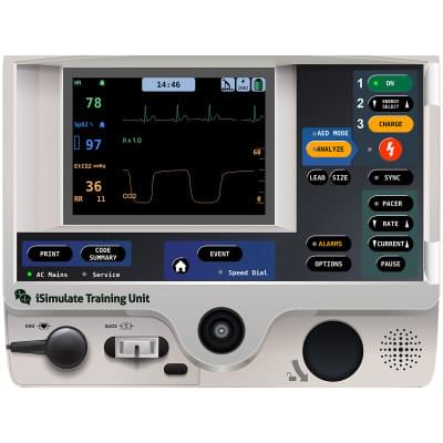 8000972 - LIFEPAK® 20 Patient Monitor Screen Simulation for REALITi360