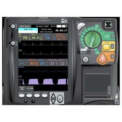 8000975 - Philips HeartStart MRx Emergency Care Patient Monitor Screen Simulation for REALITi360