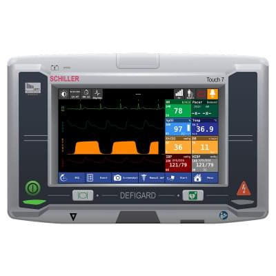 8001000 - Schiller DEFIGARD Touch 7 Patient Monitor Screen Simulation for REALITi360