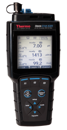 Orion Star™ A329 pH/ISE/Conductivity/Dissolved Oxygen Portable Multiparameter Meter