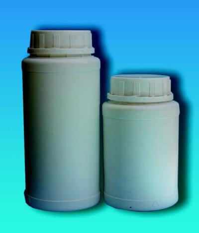 Láhev na chemikálie, širokohrdlá, včetně pojistného uzávěru, bílá, 850 ml - 850 ml