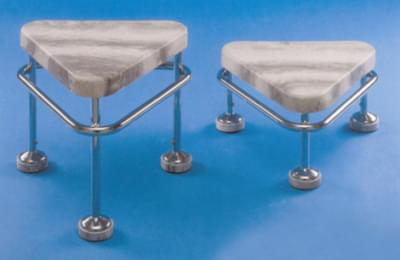 Rolling stool with stainless frame, height 250 mm, antistatic