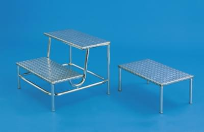 Stainless steel step ladder, height 16 cm