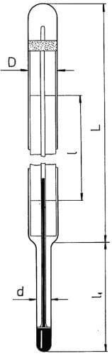 Technický teploměr - typ 160, úhlový