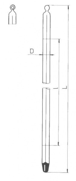 Teploměr tyčinkový pro všeobecné použití