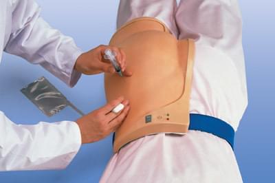 Simulátor pro nácvik intramuskulární injekce do hýždě - nasazovací