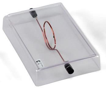 Loop-Shaped Conductor on Acrylic Base
