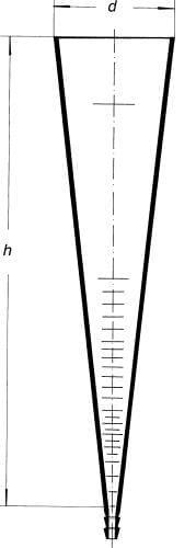 Válec sedimentační podle Imhoffa, české dělení