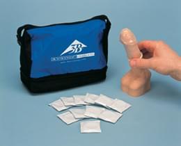 Condom Training Model, white skin tone