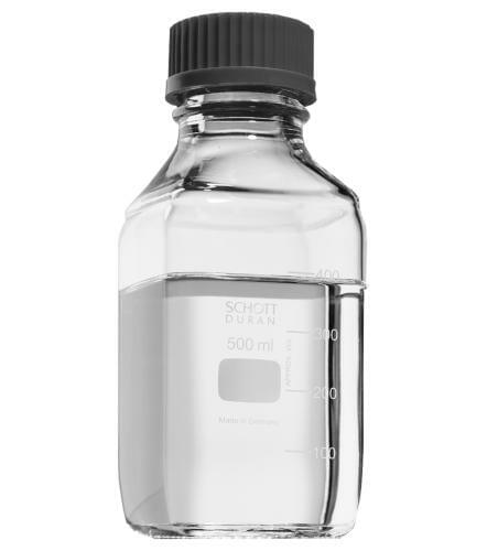 Reagent bottle, square, with cap, 1000 ml - HELAGO-CZ, s r o