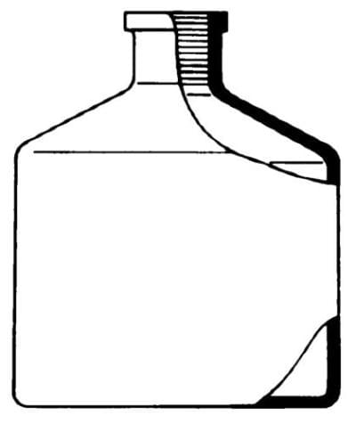 Bottle reservoir, for automatic burette acc. to Pellet - white, 2 000 ml