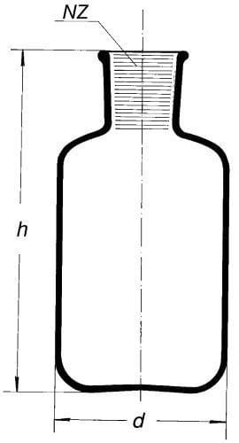 Bottle, reservoir, for injection serum, formed for SJ 34/35, 2 000 ml