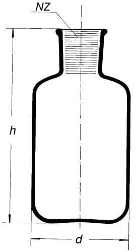 Bottle, reservoir, for injection serum, formed for SJ 34/35, 10 000 ml