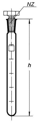 Zkumavka SIMAX kalibrovaná s NZ 14/15 a skl. zátkou