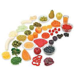 Fruit and Vegetable Rainbow Foods Kit