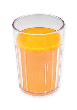 Orange juice in tumbler - 120 ml
