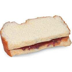 Sandwich, peanut butter and jelly