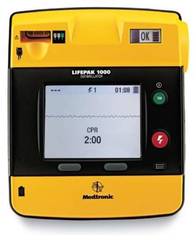 LIFEPAK 1000 with ECG display