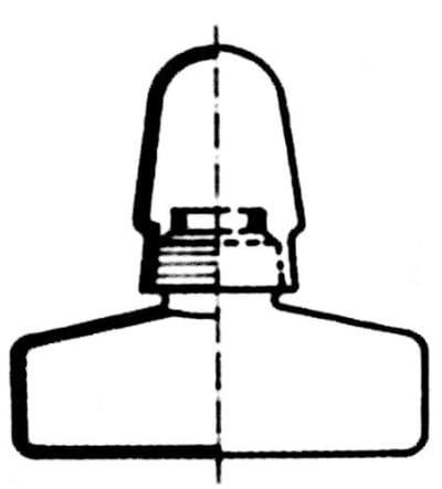 Alcohol burner with cap, 100 ml