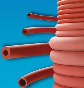 Rubber hose, red, vacuum, inside diameter 6 mm - 6 x 16