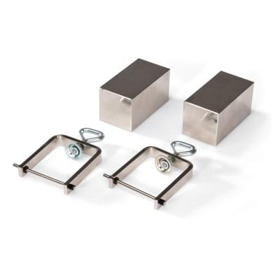Pair of Pole Shoes and Clamping Brackets for Hall Effect