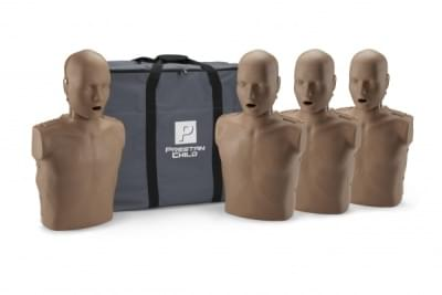 Professional Child Medium Skin CPR-AED Training Manikin with CPR Monitor 4-Pack
