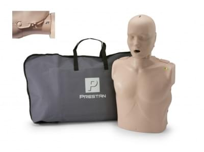 Professional Adult Jaw Thrust Medium Skin CPR-AED Training Manikin with CPR Monitor