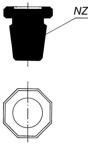 Full Stopper - octagonal with NZ 34/35, lightened