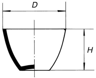 Combustion crucible, low form