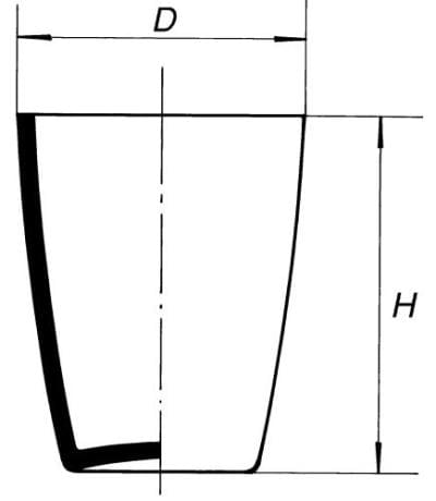 Combustion crucible, tall form