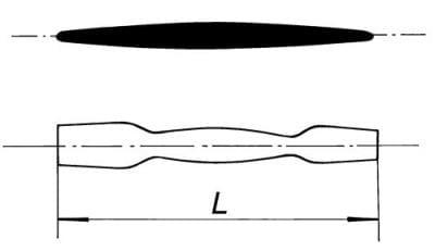 Kopisť dvojitá, délka 250 mm